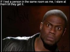 Kevin Hart's facial expressions are hilarious.