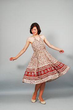 Vintage 1970s Summer Dress  70s Wrap Dress  by concettascloset, $58.00