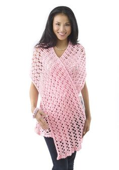 Caron International Pink Ribbon Shawl - free crochet pattern - nice share thanks xox