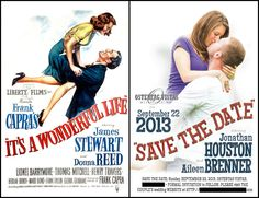 """It's a Wonderful Life"" movie poster save the dates"