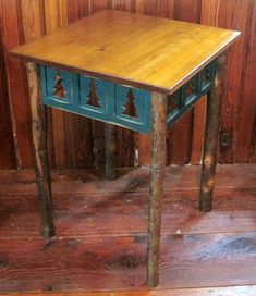 Hickory leg end #table.