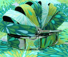 Beautiful, bold, fresh, and green! | Bloom Martingale Dog Collar an Leash | If It Barks
