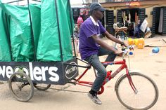 "World's Top Sustainable Solution: Pedal-Powered Recycling-In Copenhagen, Denmark, Sustainia announced Nigerian initiative Wecyclers the winner of its annual sustainability award. Arnold Schwarzenegger, chair of Sustainia Award. ""They show us that communities can create local solutions"