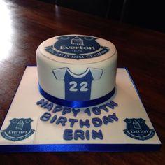 Everton cake  Football cake ideas  Pinterest  Everton and Cakes