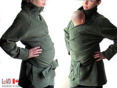 Maternity Maternity Coat Slim Fit Slimming by babywearing on Etsy