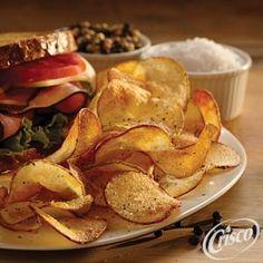 Best Homemade Sea Salt and Black Pepper Potato Chips from Crisco®