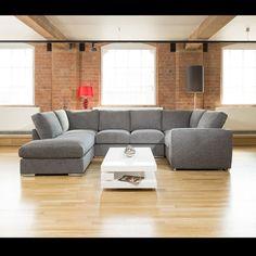 Quatropi Large Sofa Set Settee Corner Group U Shape Black In Stock U Shaped Corner Sofa, U Shaped Sofa, Velvet Sofa Set, Velvet Corner Sofa, Large Sofa, Home Cinemas, Scatter Cushions, Large Homes, Living Room Sofa