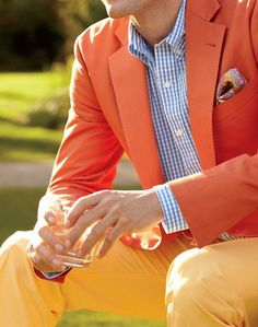 Love the color mixing with the pop of check