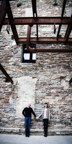 Jamie and Matt's Engagement Session at the Stone Arch Bridge in Downtown Minneapolis | George Hausler Photography