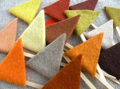 Autumn Felt Flag Toppers by Mayi Carles
