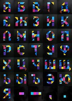 """Deconstruct"" Typeface 