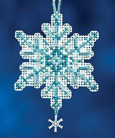 Aqua Crystal Cross Stitch Kit | sewandso