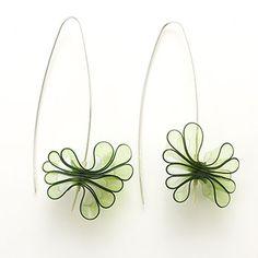 Green Sweets Earrings by Doris Jurzak