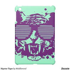 Hipster Tiger iPad Mini Cases. Cool gift ideas.