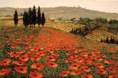 Hills of Tuscany I by Steve Wynne