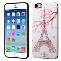Apple iPhone 6 / 6S Advanced Armor Protector Cover (3D Pattern) - Paris Eiffel Tower / Black - Various designs to fit the style of your phone. Protect your phone from scratches to preserve your phone's look. Easy access to all phone features www.lambertpaint.com