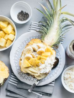 Refresh and reenergize with this recipe for a Pineapple Smoothie Bowl! It's perfect for breakfast, after a workout, or anytime you want to recharge.