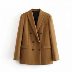 Blazer Jackets For Women, Blazers For Women, Suits For Women, Clothes For Women, Women Blazer, Sexy Women, Summer Work Wear, Double Breasted Blazer, Office Ladies