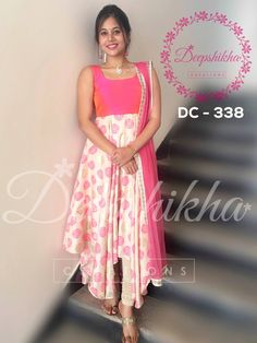 DC - 338 For queries kindly whatsapp : 9059683293 Anarkali Dress, Pakistani Dresses, Indian Dresses, Indian Outfits, Deepshikha Creations, Gown Party Wear, Frocks And Gowns, Girls Frock Design, Churidar Designs
