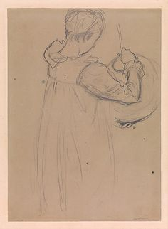 "John Singer Sargent (American, 1856–1925). Dorothy Barnard, Study for ""Carnation, Lily, Lily, Rose""; verso: Polly Barnard, Study for ""Carnation, Lily, Lily, Rose,"" ca. 1885–86. The Metropolitan Museum of Art, New York. Purchase, Marguerite and Frank A. Cosgrove Jr. Fund, 2015 (2015.283a, b) 