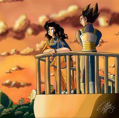 Ilustración Vegeta: Nunca te rindas los Saiyajins nos volvemos más fuertes por cada caída. Yo: …