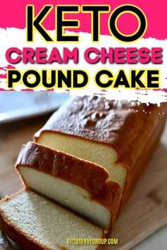 The ultimate keto cream cheese pound cake recipe. Its the only pound cake recipe youll need while doing keto. Low Carb Deserts, Low Carb Sweets, Low Carb Cakes, Keto Dessert Easy, Easy Desserts, Dessert Healthy, Diabetic Dessert Recipes, No Sugar Desserts, Diabetic Snacks