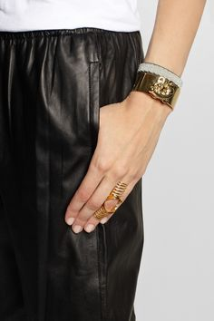 Dominic Jones|Nama gold-plated hinged cage ring|NET-A-PORTER.COM