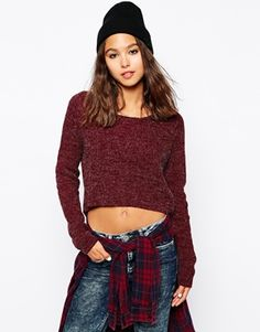 Only Rib Knit Sweater