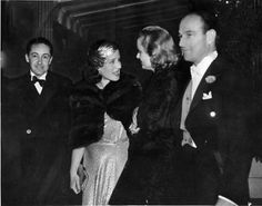 Irving Thalberg and Norma Shearer with Carole Lombard