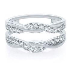 diamond ring enhancer in 14k white gold - Wedding Ring Enhancers