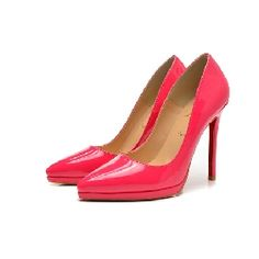 Christian Louboutin  Patent Pointed-Toe Pump Pink