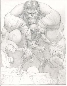 Hulk vs Wolverine by Dale Keown