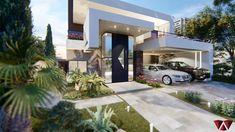 2 Storey House Design, Duplex House Design, House Front Design, Small House Design, Modern Villa Design, Modern Exterior House Designs, Dream House Exterior, Modern House Facades, Modern Architecture House