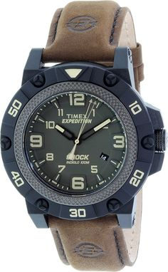 Timex Expedition Field Shock Watch - Black/Green/Brown *** Want additional info? Click on the image.