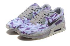 Nike Air Max 90 Womens Shoes White Grey Blue 2037 01a15ed1c