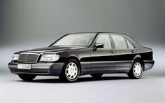 Mersedes-Benz s-class, W140, black Mersedes, classic cars