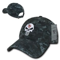 NTG Punisher Skull Military Navy Seal Special Forces Polo Baseball Hat Cap Condor Tactical, Tactical Gear, Harley Davidson Dealership, Punisher Skull, Navy Military, Camisa Polo, Fitted Caps, Leather Vest, Navy Seals