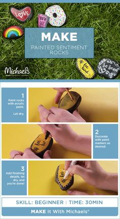 Painted rocks are sweeping the country in a big way! And Michaels has everything you need to join this fun new trend—including the rocks! Paint them. Bling them. Collect them. Trade them. Hide them. And rock out all summer long! Learn more on Michaels project page!