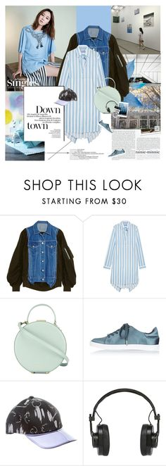 """Blue Weekend"" by rainie-minnie ❤ liked on Polyvore featuring Stop Staring!, Sacai, Balenciaga, Tammy & Benjamin, Topshop, Acne Studios and Master & Dynamic"
