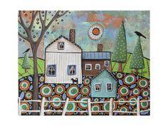 Giclee Print: Farmhouse by Karla Gerard : 24x18in