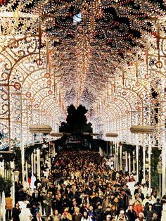 Following the Kobe earthquake of 1995, Italy loaned thousands of hand-painted bulbs to be built into intricate luminarie—light-strung, Gothic-style structures. The tradition continues: Four million revelers celebrate Japan's enduring resilience near Higashi-Yuenchi Park. December 1-12.