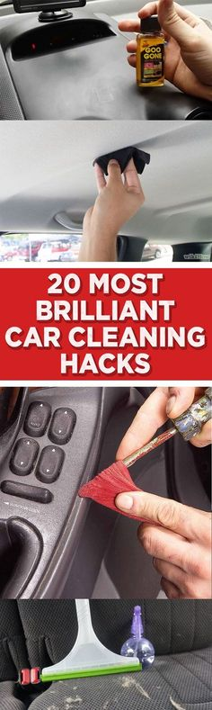 20 Most Brilliant Car Cleaning Hacks << THESE AREN'T BRILLIANT!! YOU SHOULD NEVER PUT YOUR CAR MATS IN THE WASHER OR USE STEEL WOOL ANYWHERE ON YOUR CAR!!