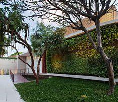 Arquitetura de spa urbano celebra a natureza