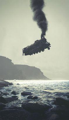 Photo Manipulation & Collage / Surreal Digital Illustrations by Tebe Interesno Photomontage, Image Train, Urbane Kunst, Photo Images, Photoshop, Foto Art, Magritte, Illustrations And Posters, Surreal Art