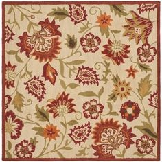 @Overstock - Bring a touch of the garden into your home with the blossoms collection. An intricate floral design with updated fresh colors and dense, thick wool pile highlight this handmade rug.http://www.overstock.com/Home-Garden/Handmade-Blossom-Paisley-Beige-Wool-Rug-8-Square/7347576/product.html?CID=214117 $302.99