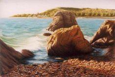 Hidden treasures 53x35cm Seascape Paintings, Landscape Paintings, Painter Artist, Classic Paintings, Hidden Treasures, Sunshine Coast, Australian Artists, Still Life, Gallery