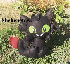 Felt toy Toothless from How to Train Your Dragon Toothless, Felt Toys, How To Train Your Dragon, My Works, Wool Felt, Handmade, Toothless Funny, Hand Made, Wool Felting