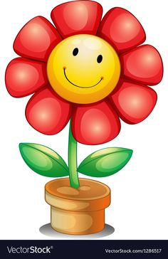 Smileys Vector Images (over - Page 3 Cute Clipart, Flower Clipart, Art Drawings For Kids, Easy Drawings, Owl Vector, Cartoon Flowers, Clip Art, Happy Flowers, Smileys