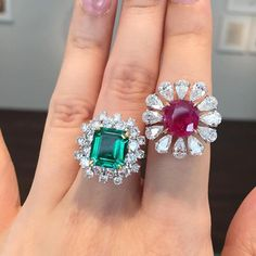 """381 Likes, 12 Comments - AlarbashJewelersجواهرجي الأربش (@alarbashjewelers) on Instagram: """"Amazing rings to be auctioned next month in Hong Kong by @christiesinc #VanCleefanArpels Emerald…"""""""