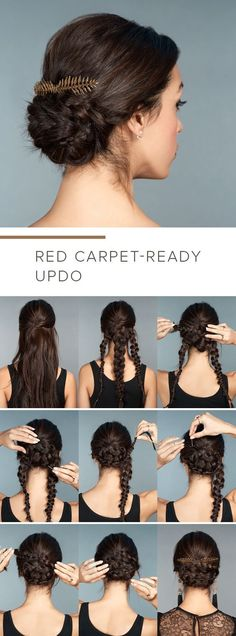 So easy and so stylish! Braided base for a cool updo - 12 Long Hairstyles For Everyone | CircleTrest